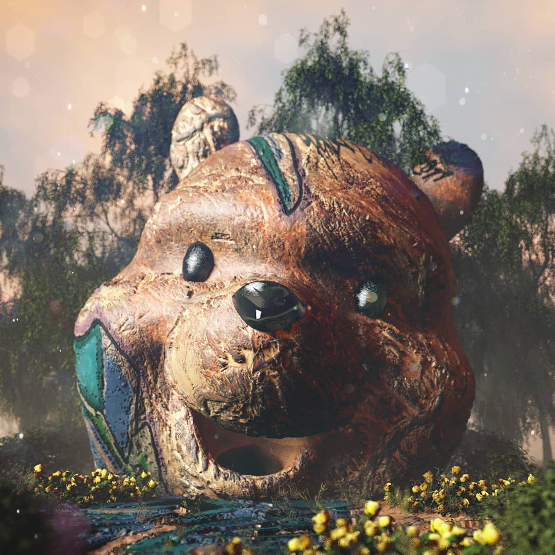 CARTOON BEAR COMMEMORATION - Cinema 4D Projects - Project files